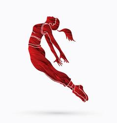 Street dance dancer action vector