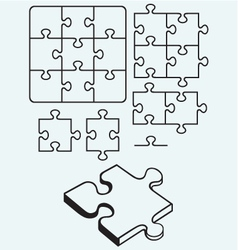 Various puzzle vector