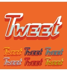 Flat design tweet vector