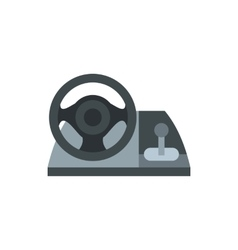 Gaming steering wheel icon flat style vector