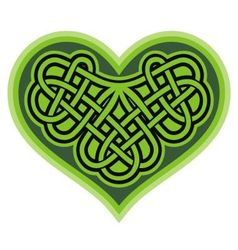 Shamrock heart Celtic symbol vector image
