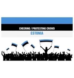 Cheering or protesting crowd estonia vector