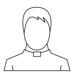 Priest icon outline style vector