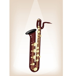 A musical baritone saxophone on stage background vector