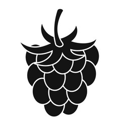 Raspberry or blackberry icon simple style vector