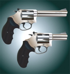 Revolver weapon vector