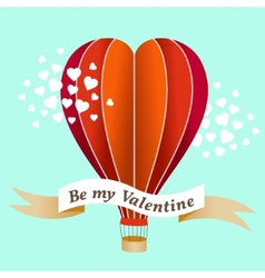 Valentines day air balloon vector