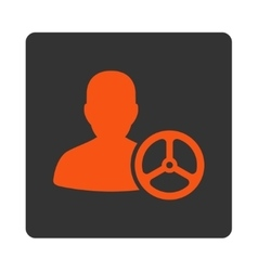 Driver icon from commerce buttons overcolor set vector