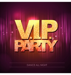 Typography disco background vip party vector