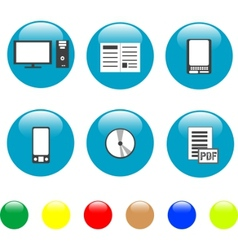 Home electronics and equipment icons vector vector