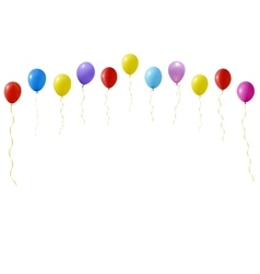 Set of colourful balloons vector