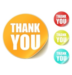 thank you sticker vector image