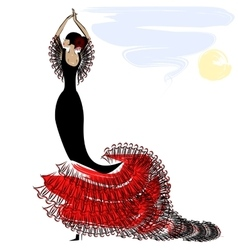 image of flamenco vector image