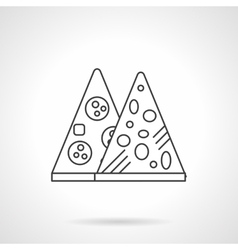 Mexican pizza flat thin line icon vector