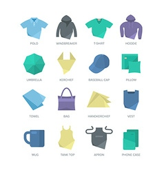 Apparel and personal items icons vector