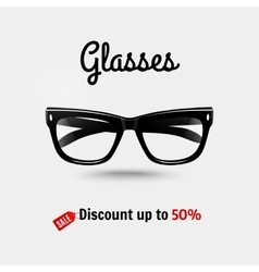 Realistic glasses sale banner vector
