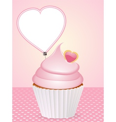 valentine cupcake background vector image