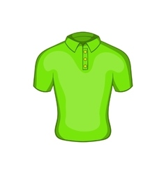 Mens green polo icon cartoon style vector