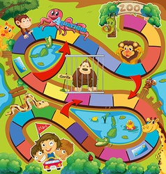 Animals zoo game vector image