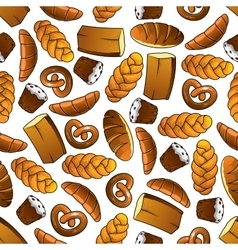 Bakery and pastry seamless pattern vector