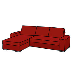 big red couch vector image