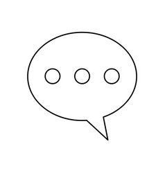 Bubble speech message communication line vector