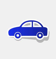 Car sign new year bluish vector