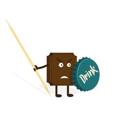 chocolate warrior vector image