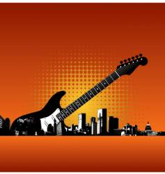 city-085221 guitar vector image vector image