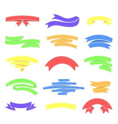 colorful ribons set isolaten on background vector image vector image