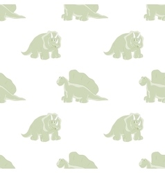 Cute dinosaurs on a white background vector