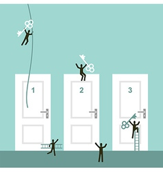 Different ways to success vector