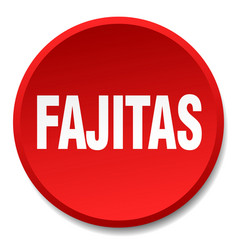 fajitas red round flat isolated push button vector image vector image