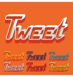 Flat design tweet vector
