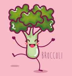 Fresh broccoli vegetable character vector