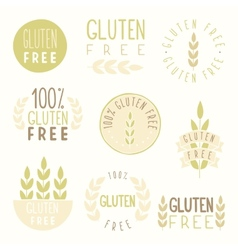 Gluten free badges vector