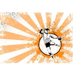 handball poster vector image vector image