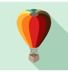Hot air balloon in flat design style vector