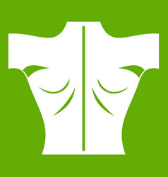 Human back icon green vector