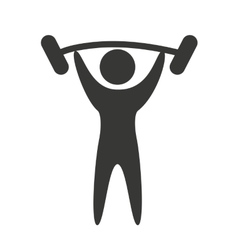 Human figure silhoeutte lifestyle sport gym vector