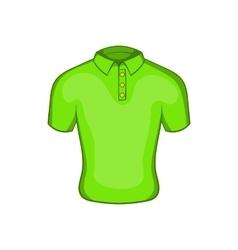 Mens green polo icon cartoon style vector