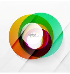Modern colorful abstract circles vector image vector image