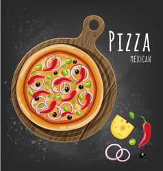 Pizza mexican vector