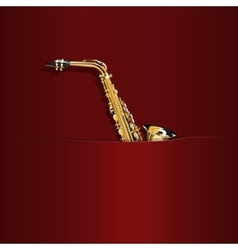 saxophone in the pocket vector image