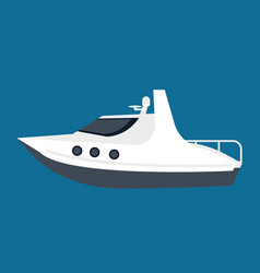 Small white yacht for pleasant sea walks isolated vector