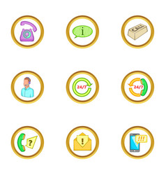 Support service icons set cartoon style vector