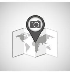 Travel concept location map camera design graphic vector