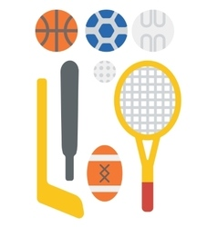 Variety of sports equipment vector