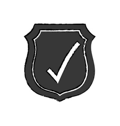Approval check icon vector
