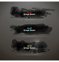 Grunge transparency banner vector